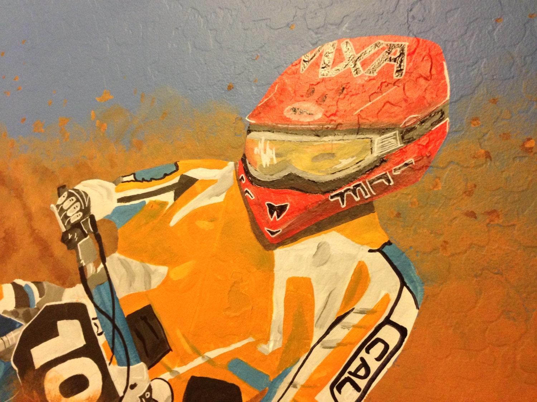 dirt bike mural canvas mural dirtbike painting racing party zoom
