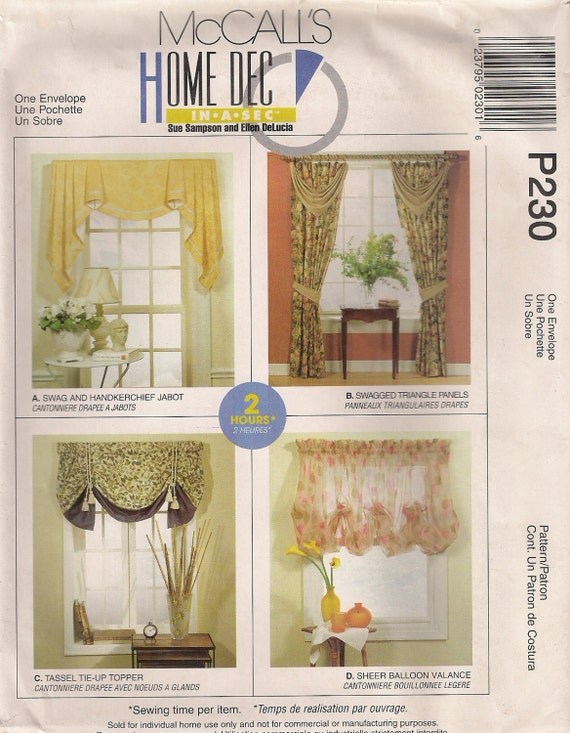 mccall s home decor sewing pattern p230 aka 2788 the best international home decor blogs