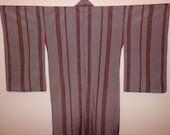 SALE - 50%OFF!! Antique kimono - Stripe