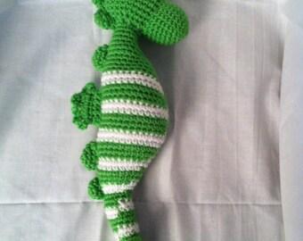 Crocheted stuffed seahorse