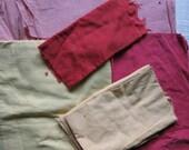 Vintage solid color fabric pieces