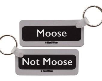 Supernatural Double-sided Moose-Not Moose Geek Keychain