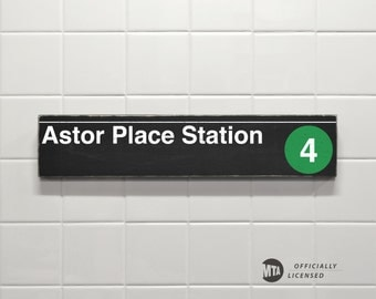 Astor Place Station - New York City Subway Sign - Wood Sign