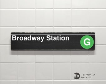 Broadway Station - New York City Subway Sign - Wood Sign
