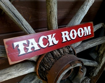 Hand Painted Tack Room Sign. Hand Painted Wood Sign.  Tack Room.  Barn.  Horse Sign.