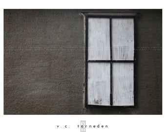 vacant window, fine art color photographic print