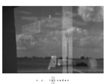 sixty-six reflection, fine art black & white photographic print