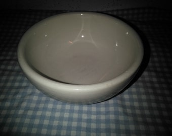 Vintage Victor Stoneware  Bowl - White Stoneware Bowl - Small Mixing Bowl