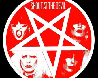 """Motley Crue """"Shout At The Devil"""" Promo LP Tape Stand-Up Display - Glam Rock Collectibles Collection Memorabilia Retro Gift Idea Heavy Metal"""