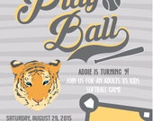 Let's Play Ball Invitations
