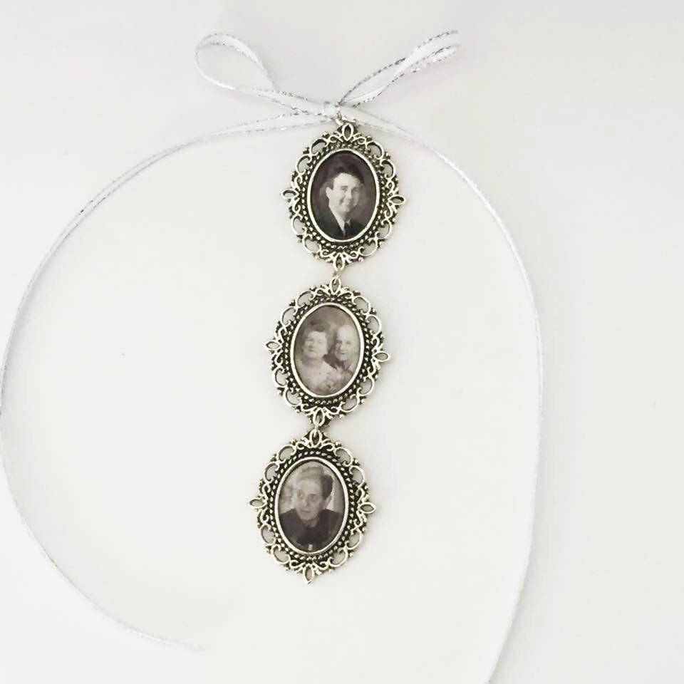 Bridal Bouquet Locket Charm : Memory charm bridal bouquet locket for bride