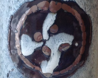 Handmade Vintage Glazed Stoneware Vase