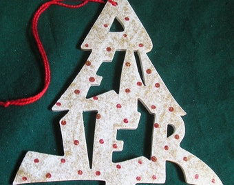 Denver, handcrafted tree shaped ornament