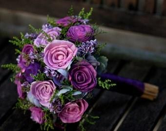 Purple Sola Bouquet,Large Bouquet,Large Bridal Bouquet,Sola flowers Bouquet,Purple Hydrangeas,Sola flowers, Destination wedding flowers