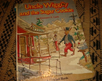 Vintage 1977 Uncle Wiggily and the Sugar Cookie By Howard Garis Illustrated