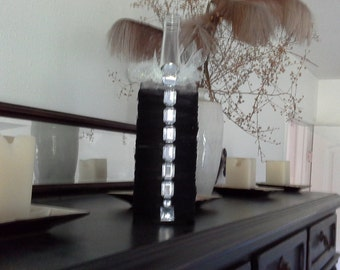Wedding Center piece, Decorative Bottle one of a kind by signart04andmore on Etsy