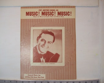 Put Another Nickel In - Music! Music! Music! vintage sheet music by Weiss and Baum 1950