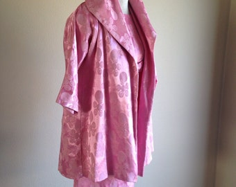 Tiny Bubbles Pink Brocade 2 pc Wiggle Dress with Jacket Party set