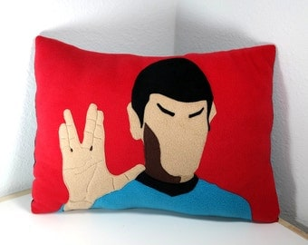 Mr. Spock Pillow Star Trek Handmade Decorative Abstract