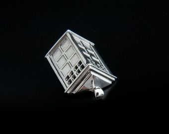 Tardis Pendant, Doctor who pendant, doctor who jewellery, Dr Who pendant Tardis Earrings, Dr Who pendant, silver Tardis, gold Tardis
