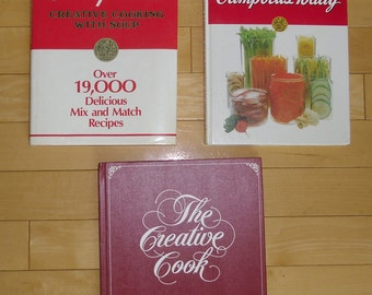 Vintage Cookbooks - 3 Campbell Soup Company, Creative Cooking With Soup 1985, Campbell's Today 1980s, The Creative Cook 1978