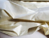 Silk Dupiony Fabric - Ivory Color with Gold Color Vertical Lines - Listing for 1 yard & 54""
