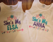 Custom matching disney vacation frozen shirt for sisters