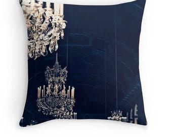 Paris throw pillow - Pillow insert - Chandelier pillow - Gold pillow