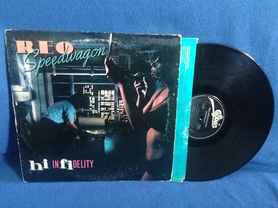 vintage reo speedwagon hi infidelity vinyl lp by sweetleafvinyl. Black Bedroom Furniture Sets. Home Design Ideas