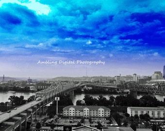 The Storm city Photographic Print of Cincinnati