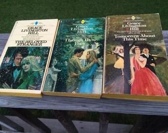 Christian Romance Vintage Paperback Book Set by Grace Livingston Hill - Lot of 3