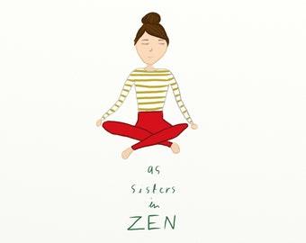 sisters in zen printable PDF