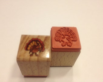SMALL Turkey rubber stamp, 15 mm (A11)