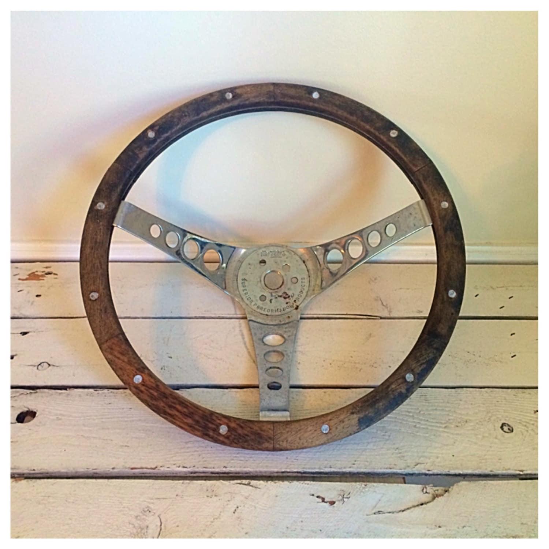 SALE Vintage Wooden Steering Wheel 1980 Chevrolet Camaro / The
