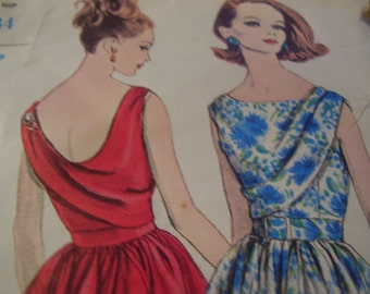 Vintage 1960's Vogue 5605 Special Design Dress Sewing Pattern, Size 12, Bust 32