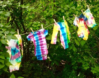Hand Dyed Baby Oneies