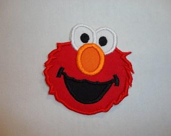 Elmo Patch, Elmo Appliqued Iron On Patch, Elmo Iron On