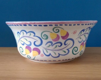 Poole Hand Painted Bowl pattern WJ c1920s