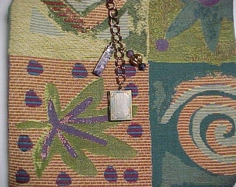 "Crossbody Bag iPad Boho Reversible Washable ""METAPHYSICAL JOURNEY ""  Loop Purse with Keychain / Bagcharms"
