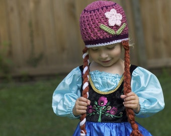 Crochet Princess Anna Hat