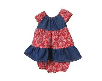 Fall Baby Dress - Peasant Dress and Bloomers - Country Western Dress - Kid Fashion - Baby 2 piece outfit - Autumn Dress