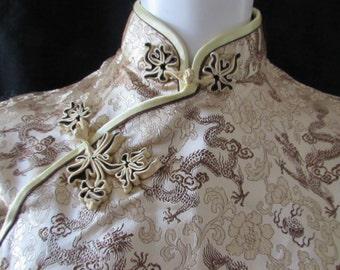 ASIAN Chinese Wiggle Dress Vietnamese Aoi Dai  dress silk size 34