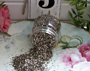 Vintage Look Tarnished Glitter, Glitter, Old Fashioned Glitter, Silver Glitter, Glass Glitter, Shabby Style Glitter, Specialty Glitter