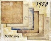 Digital Paper Pack 1920s 12x12 downloadable printables