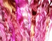 Queen of flowers - extra long locks for dolls hair spinning or felt making Lincoln longwool 14 inch locks