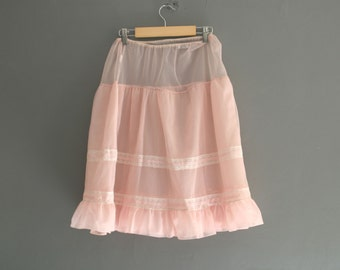 60s Pink Nylon Half Slip by Marks and Spencer