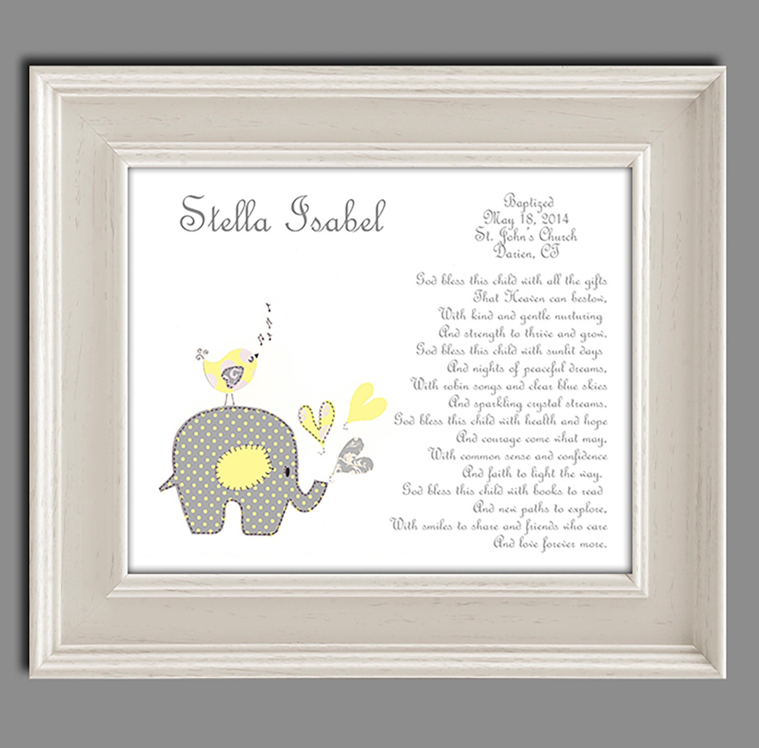 Baptism gift from godparents baby girls christening gift - Gifts for baby christening ideas ...