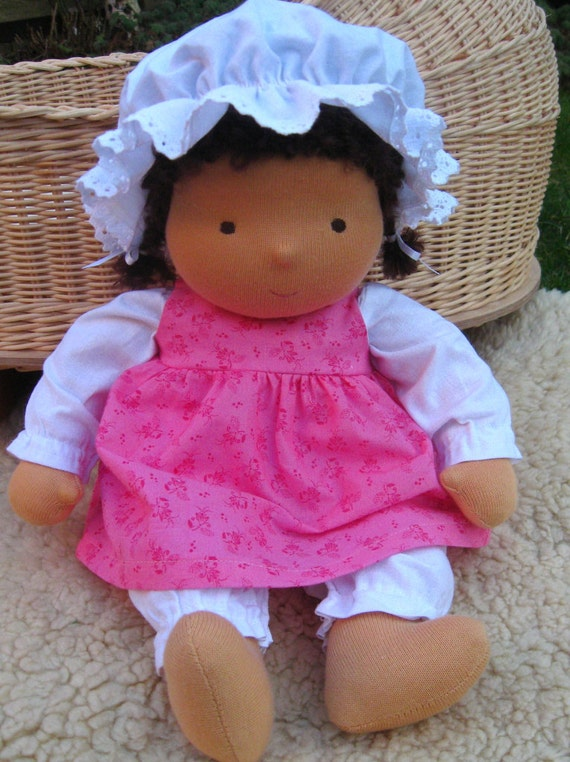"Waldorf doll baby 14"" tall, Maya (made to order)"