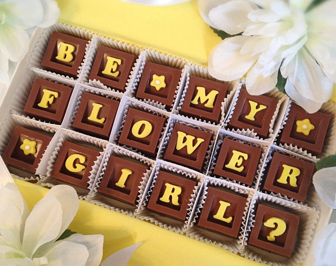 Flower Girl Gift - Flower Girl Chocolates - Wedding Party Attendant Gift