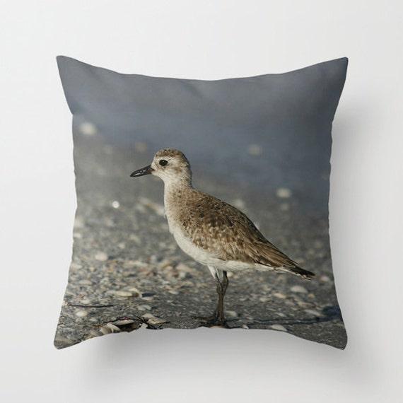 Black Bellied Plover Photo Throw Pillow, Throw Pillow, Photo Pillow, Nature, Birds, Photography